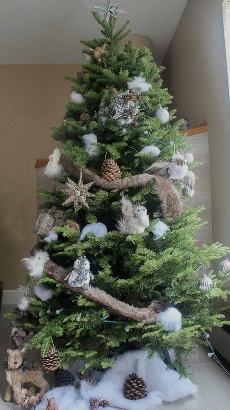 Woodland Christmas Decorations.Woodland Christmas Tree The Pomegranate Mom